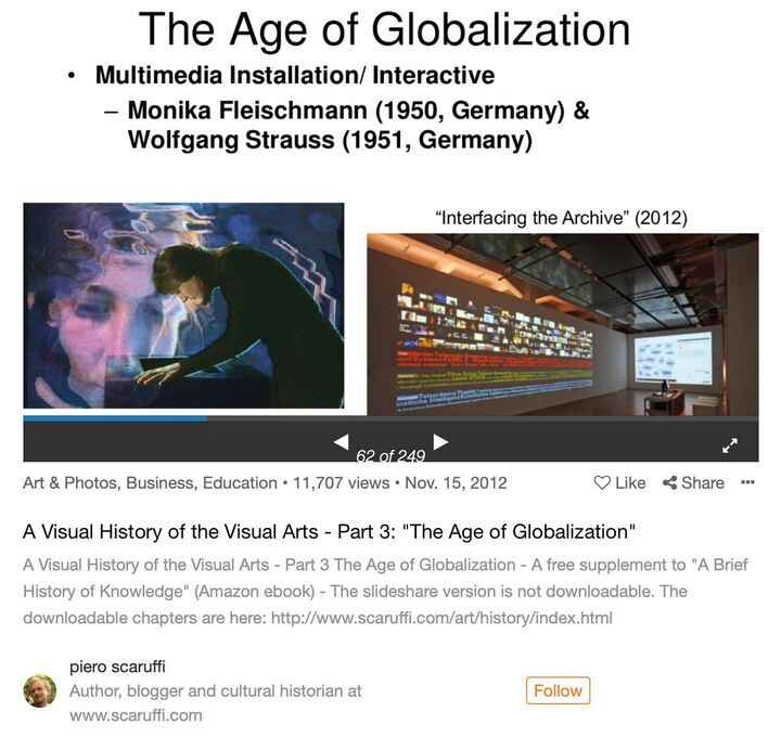 """A Visual History of the Visual Arts - Part 3 The Age of Globalization - A free supplement to """"A Brief History of Knowled..."""