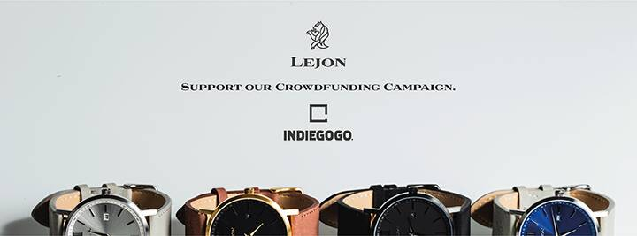 CAMPAIGN | indiegogo crowdfunding campaign for LEJON watch