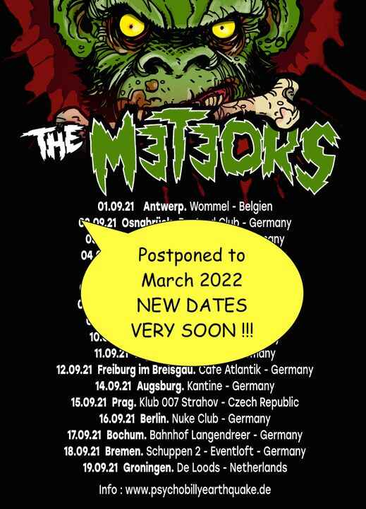 Postponed to March 2022 !!! NEW DATES VERY SOON !!