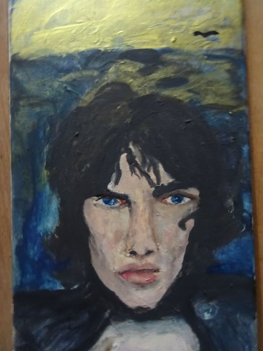 """finished my painting from Richard Ashcroft ( the Verve)called """"I Hope you see what I see"""" mixed Technique on Canvas, 201..."""